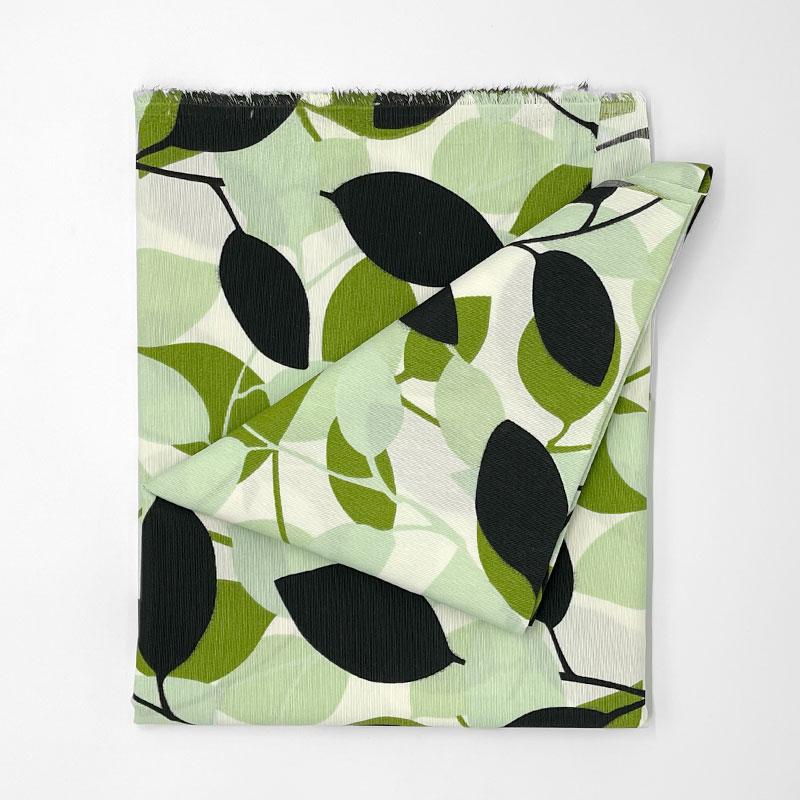 Tecido Gorgurão - Folhas Verde - 50cm x 140cm