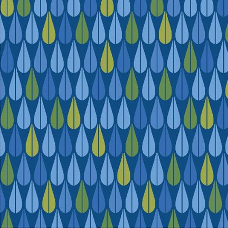 Eva e Eva Coleção Classic Blue - Estampa Gota Azul - 50cm x 150cm