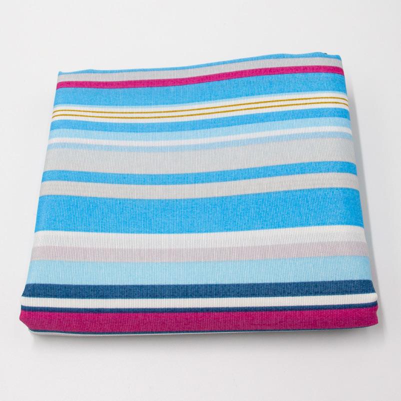 Tecido Gorgurão - Listrado Azul Pink e Cinza - 50cm x 140cm