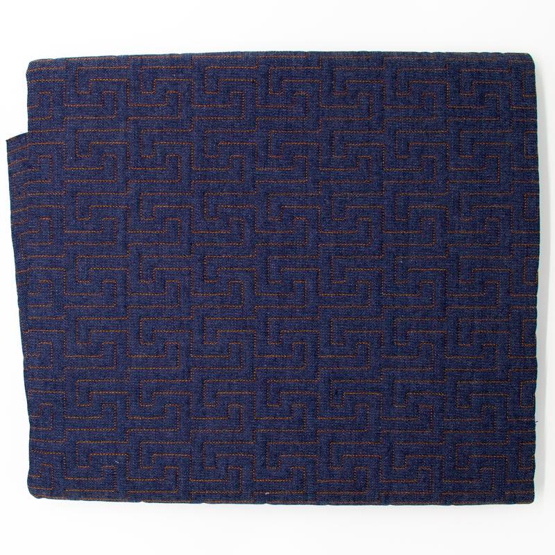 Tecido Matelassado Jeans Labirinto Linha Caramelo - 50cm X 150cm