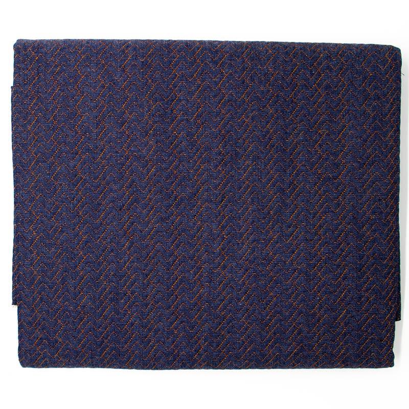 Tecido Matelassado Jeans Tetris - 50cm X 150cm