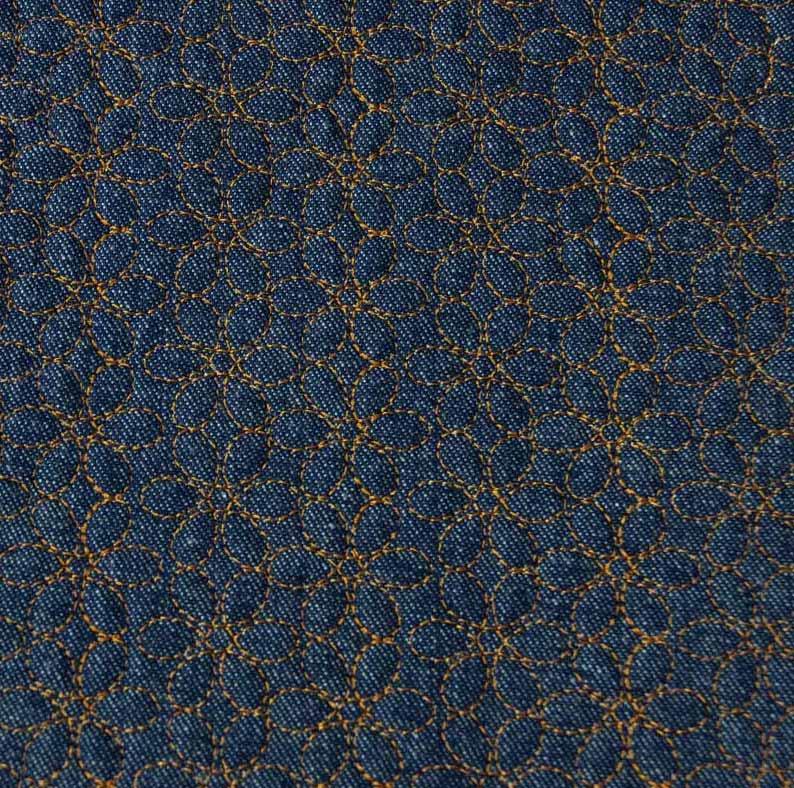 Tecido Matelassado Jeans Tradicional Quilt Elis Caramelo - 50cm X 150cm