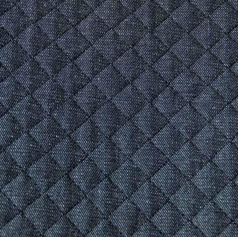 Tecido Matelassado Jeans Tradiciomal Reto Linha Azul - 50cm X 150cm