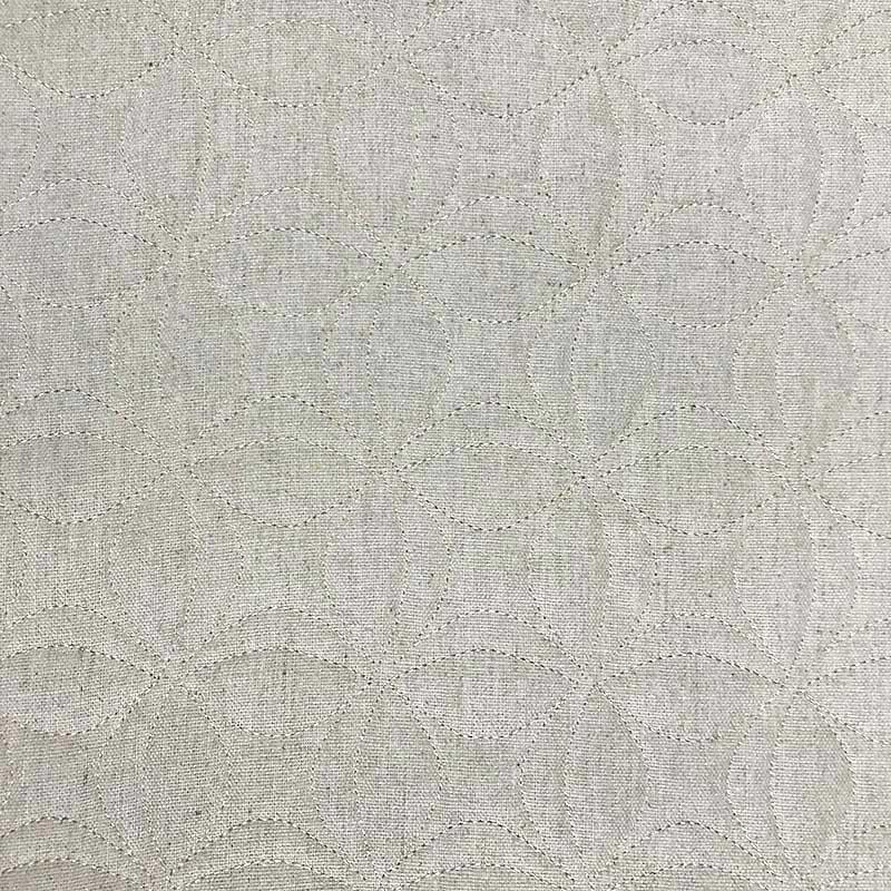 Tecido Matelassado Linho Flor de Lótus - 50cm X 150cm