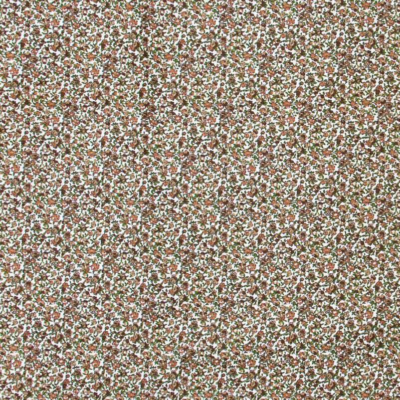Casa Criativa - Floral Marrom com Fundo Cinza - 50cm X150cm