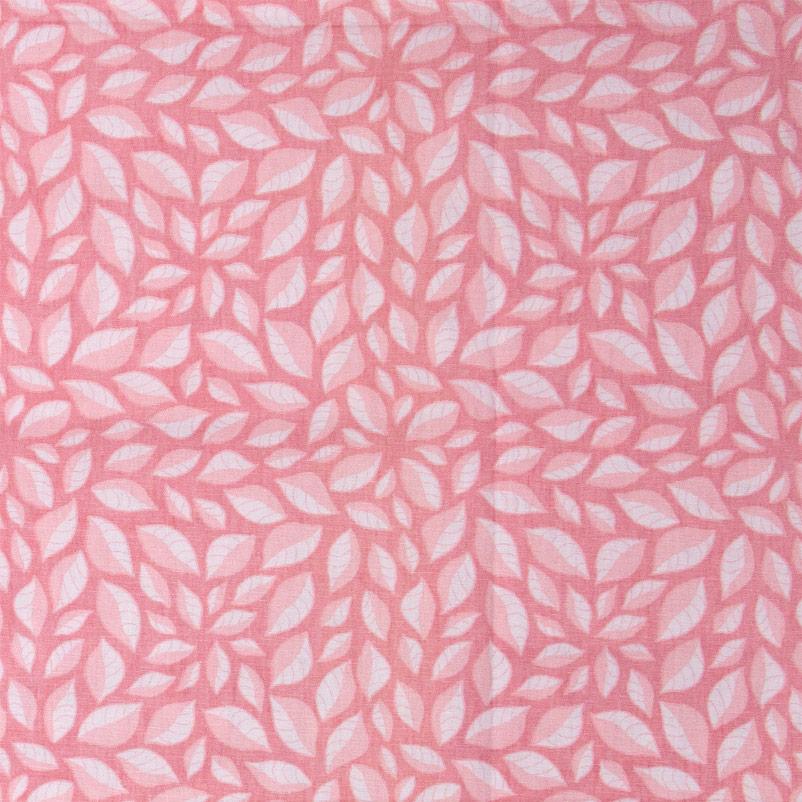 Patch Brasil - Folhas Rosa Claro Com Fundo Rosa Escuro - 50cm X150cm