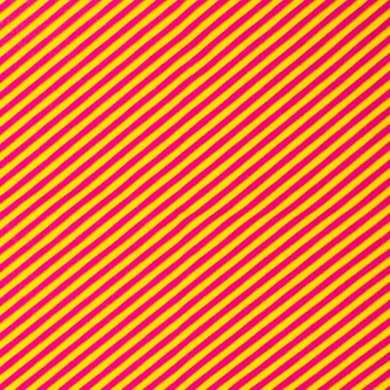 Patch Brasil - Listrado Amarelo/Rosa - 50cm X150cm