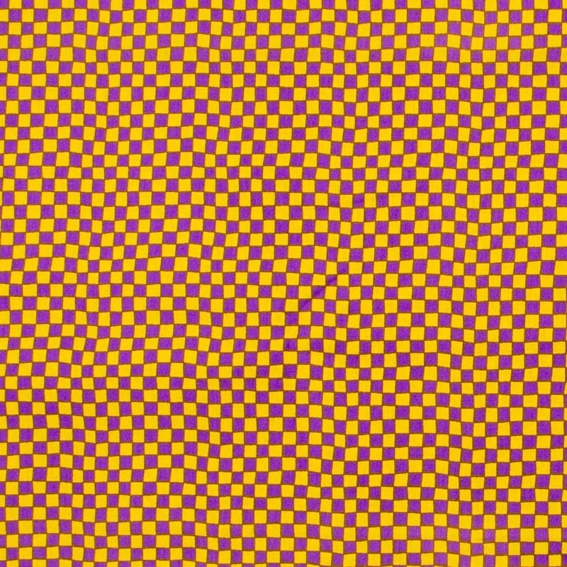 Patch Brasil - Xadrez Roxo/Amarelo - 50cm X150cm