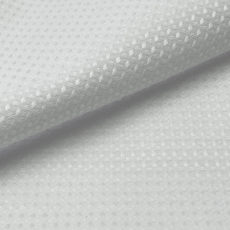 Tecido Piquet Diamante Pequeno Branco - 50cm x 250cm