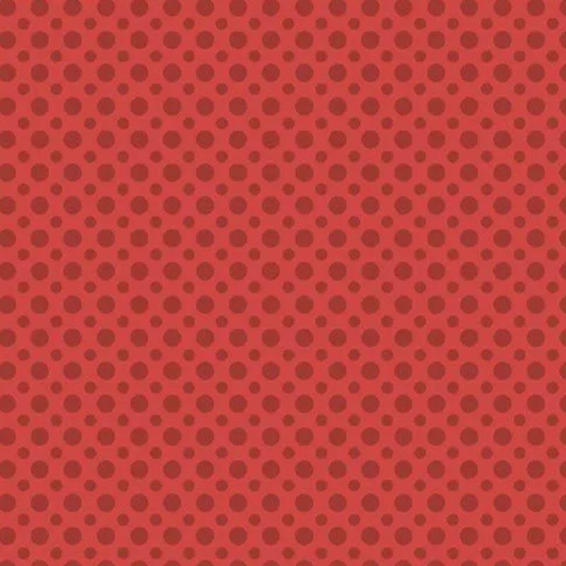 Fuxicos e Fricotes Coleção Poá TomTom - Poá Vermelho - 50cm X150cm