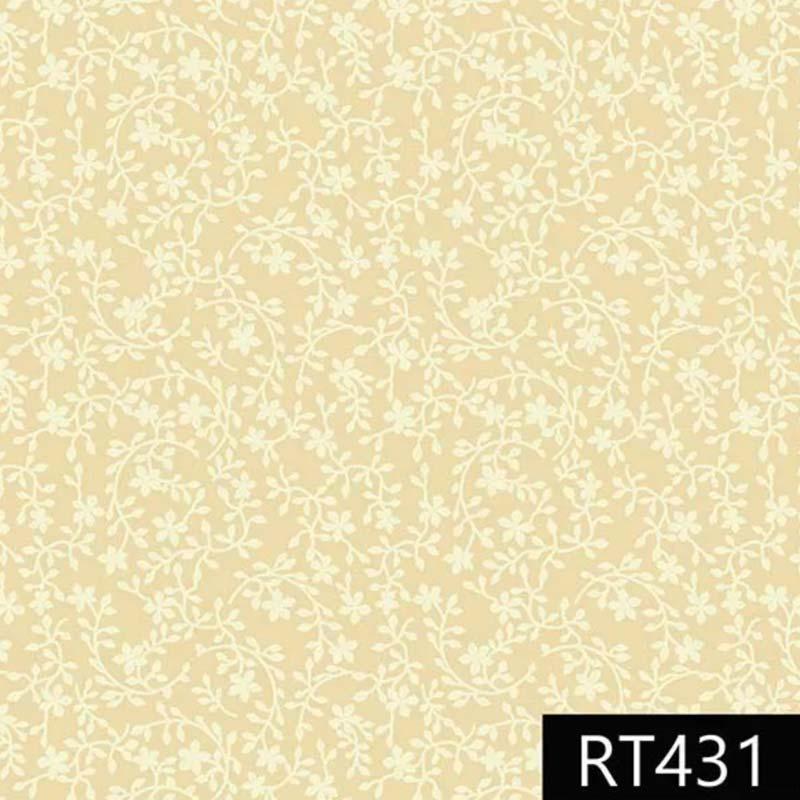 Fuxicos e Fricotes - Coleção Libélulas - Raminhos Amarelo Claro - 50cm X150cm