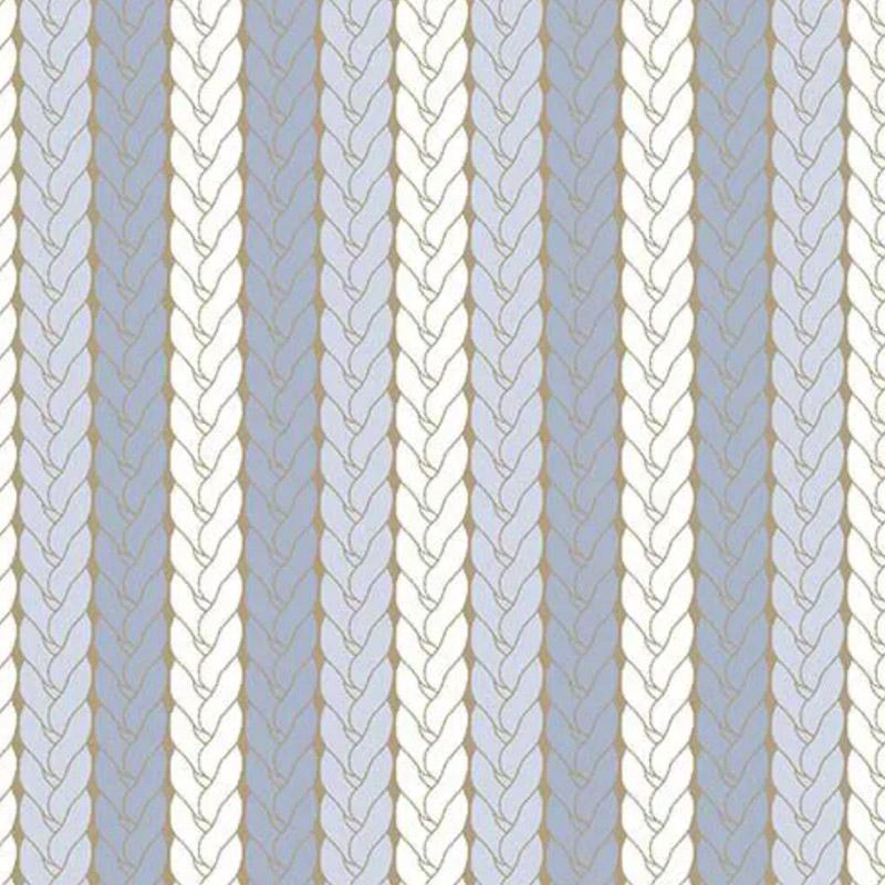 Fuxicos e Fricotes - Coleção Bichinhos Baby -  Tricô Azul - 50cm X150cm