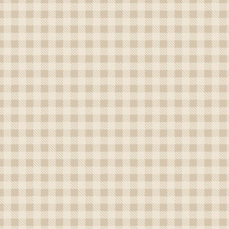 Fabricart Coleção Basics & Colors - Xadrez Creme - 50cm X150cm