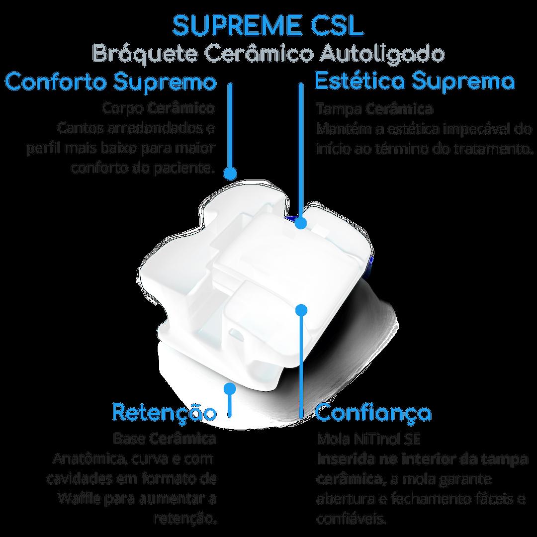 Bráquete Estético Autoligado - Conheça as vantagens do Supreme CSL