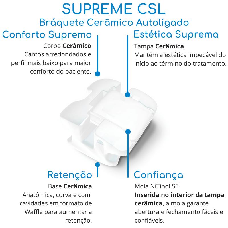 Conheça as vantagens do bráquete cerâmico autoligado Supreme CSL