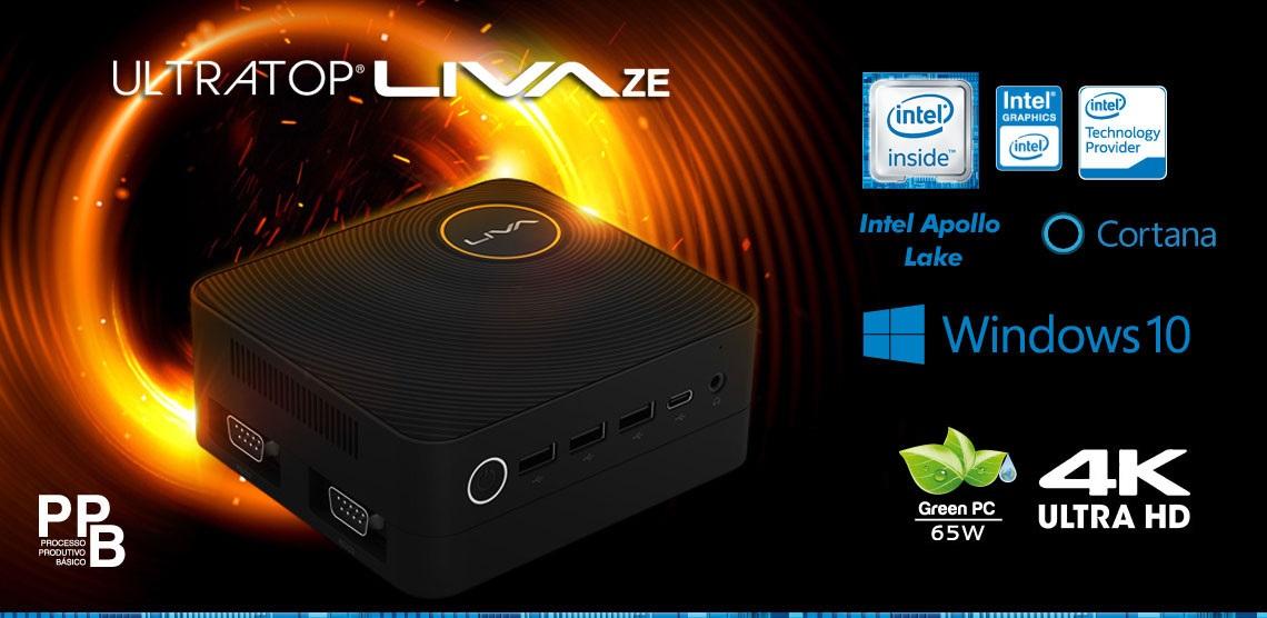 Computador Compacto Ultratop Liva ZE INTEL Dual Core N3350 4GB SSD 30GB WIN10 ULN3350430W