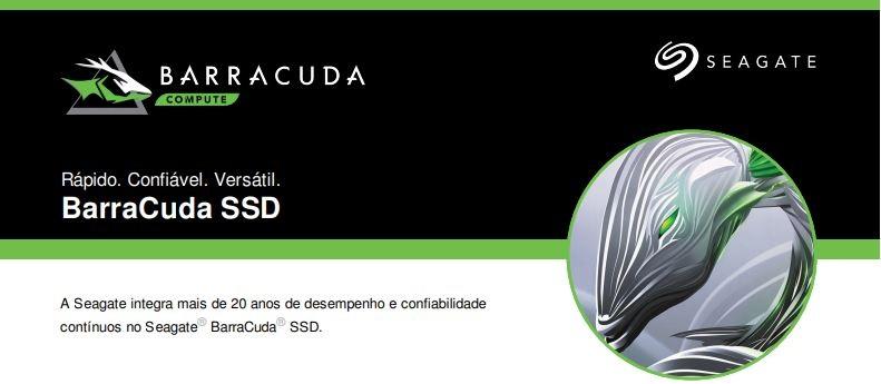 SSD Seagate Barracuda 250GB 2.5 STGS250401 Especificações