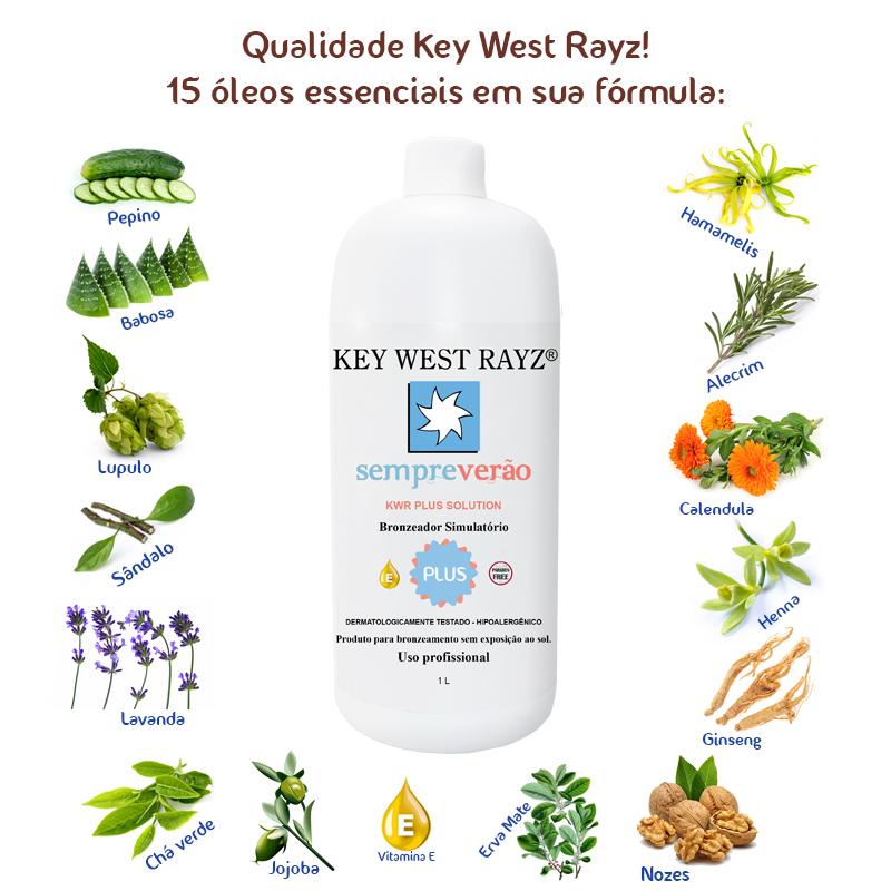 Líquido Autobronzeador Plus Solution - Key West Rayz