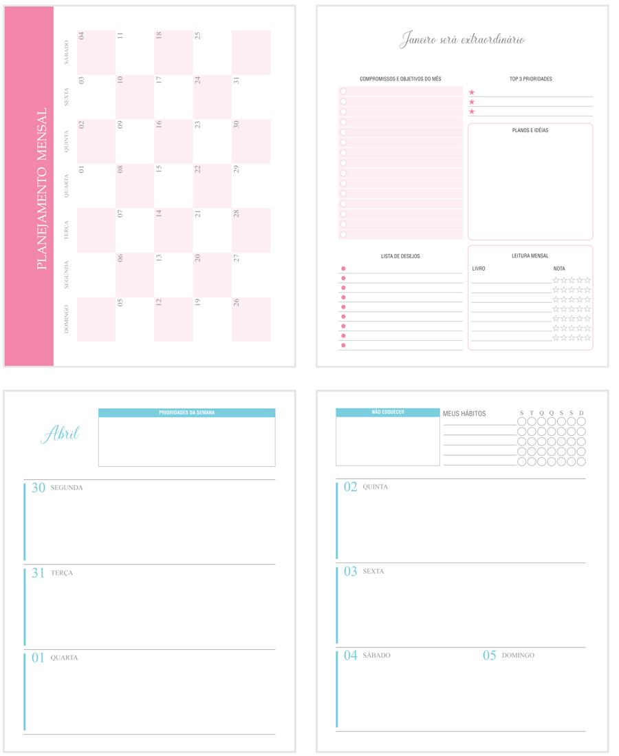 agenda planner personalizado 2020