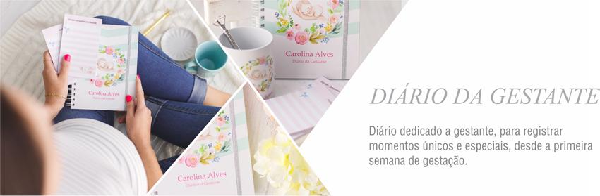 Diario da gravidez caderno gravida personalizado maternidade