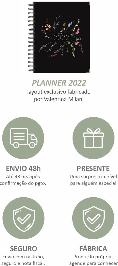 minha vida organizada com esse planner 2022