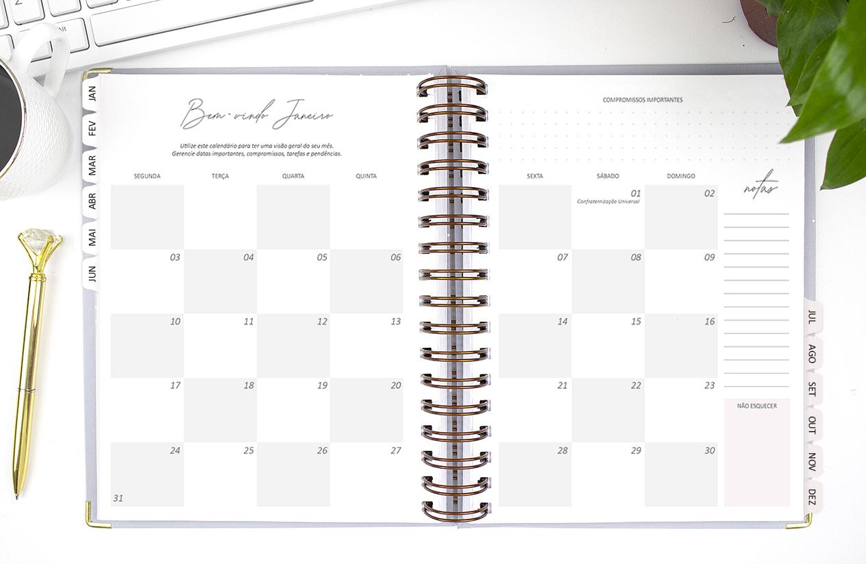 mais organização no seu dia a dia com esse planner