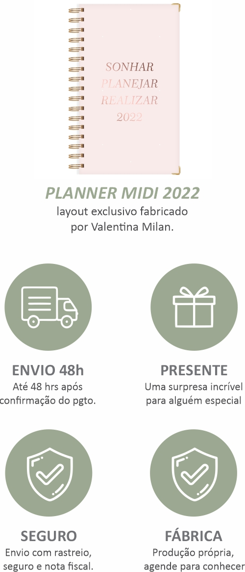 Planner 2022 para organizar sua rotina