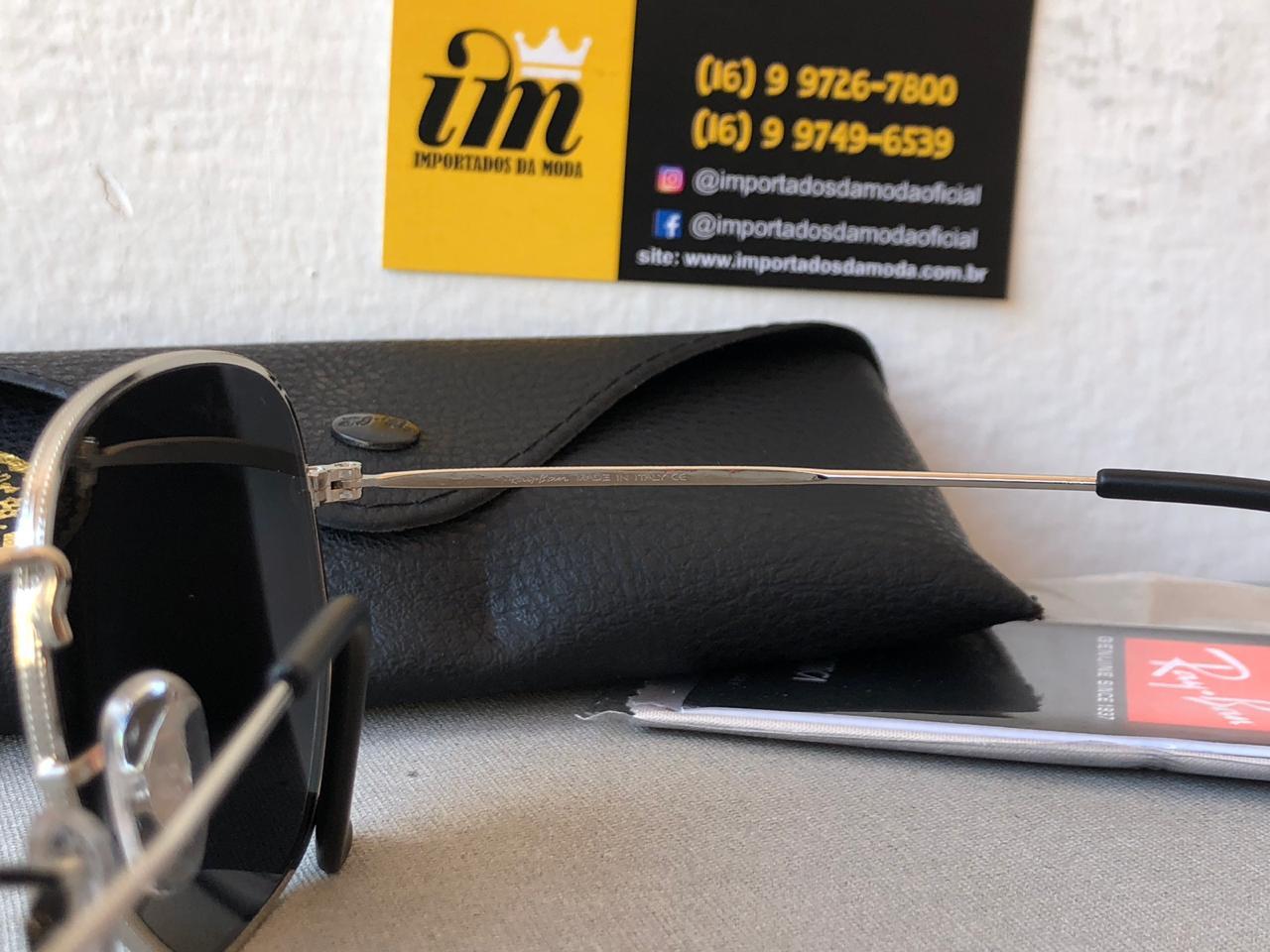 Óculos De Sol Ray Ban Hexagonal Prata Replica Primeira Linha 2