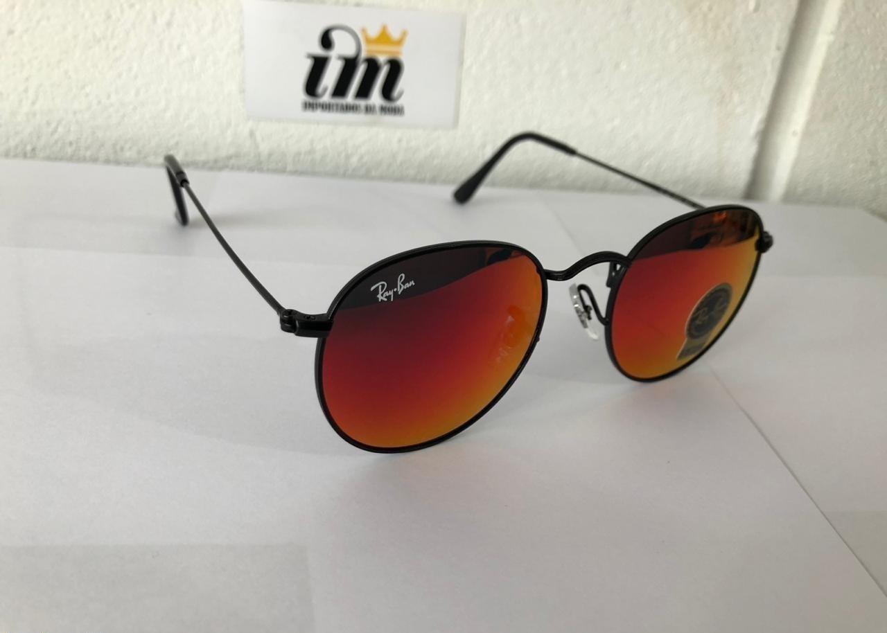 d2bfd1130 O Que acompanha o Óculos de Sol Ray Ban Round Vermelho Replica Primeira  Linha?