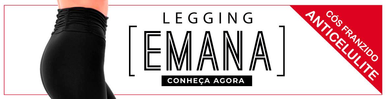 Legging Emana Cos Franzido