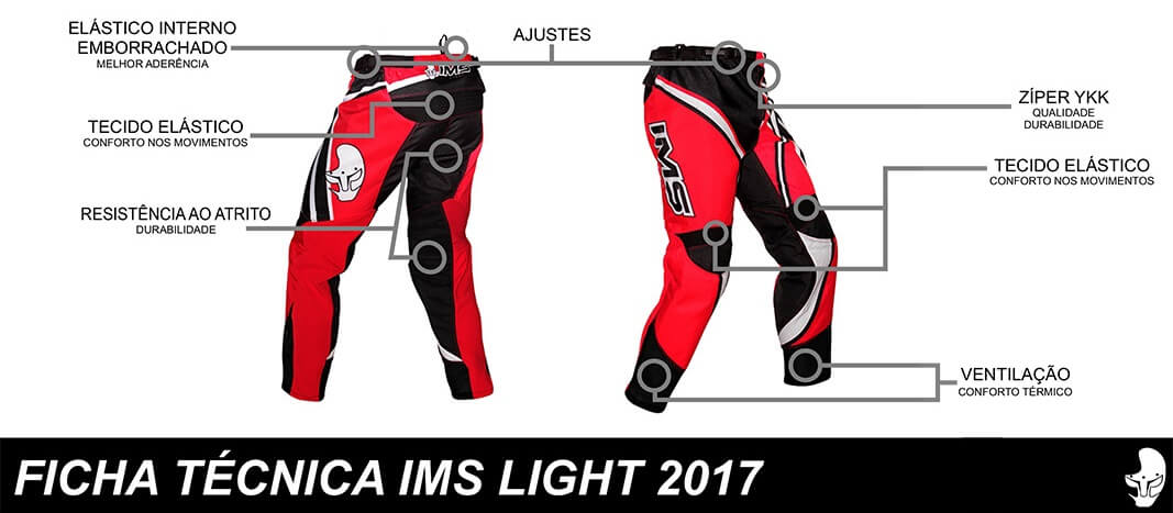 ficha tecnica calça ims light