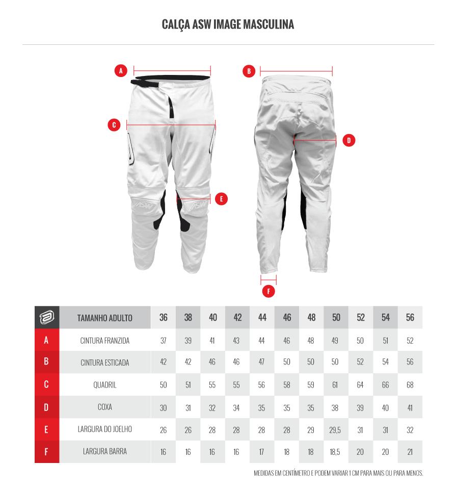 tabela de medidas calça image