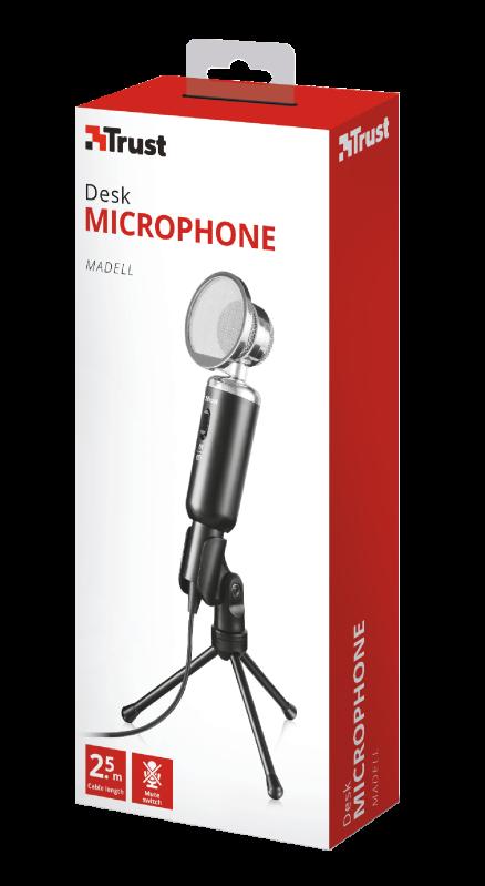 Microfone de Mesa para Pc com Tripé Trust Gaming