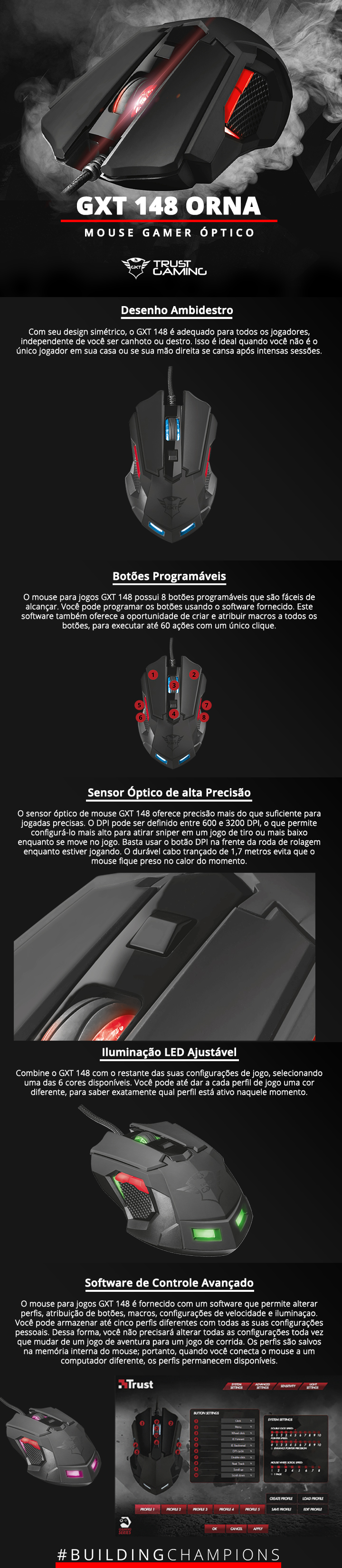 Mouse Gamer Profissional Trust