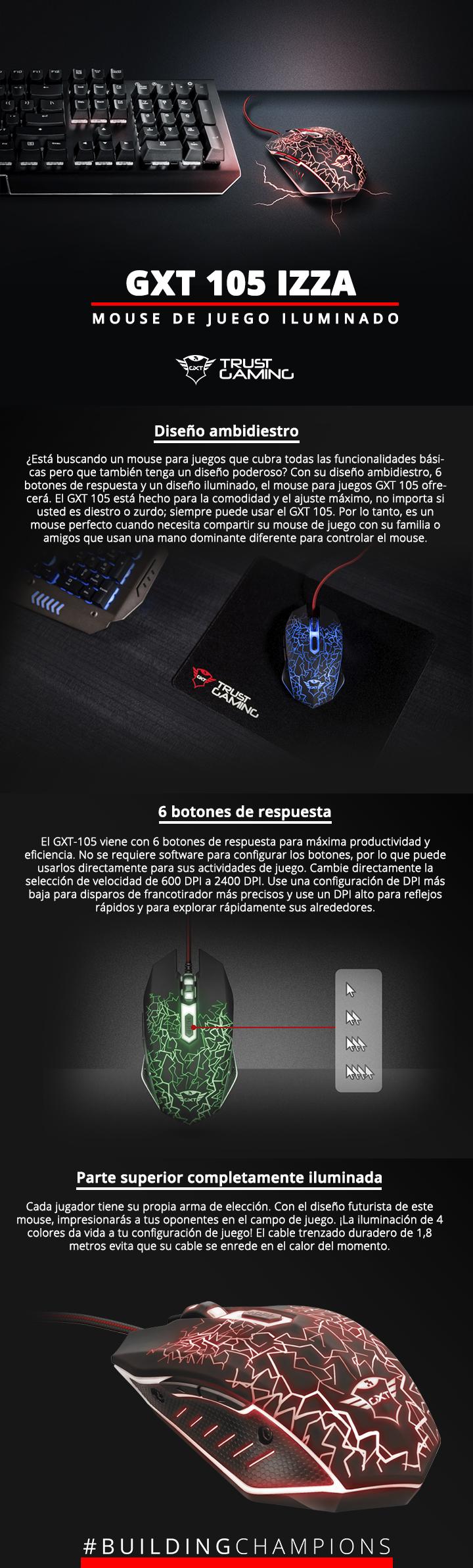 Mouse Gamer Trust RGB