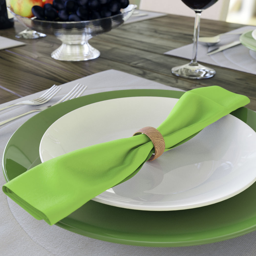 guardanapos verde abacate para o natal