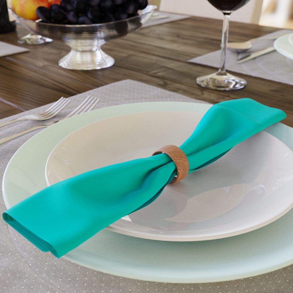 guardanapos coloridos para o café da manhã
