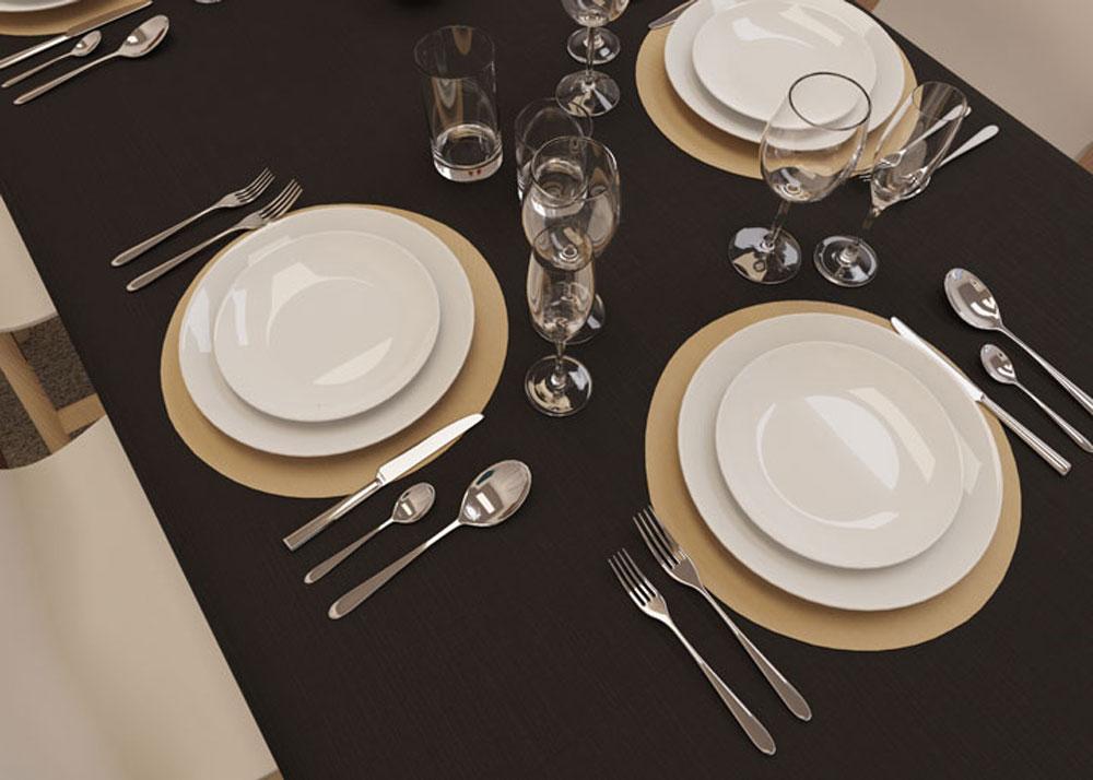 decoração com toalha de mesa oxford preta retangular