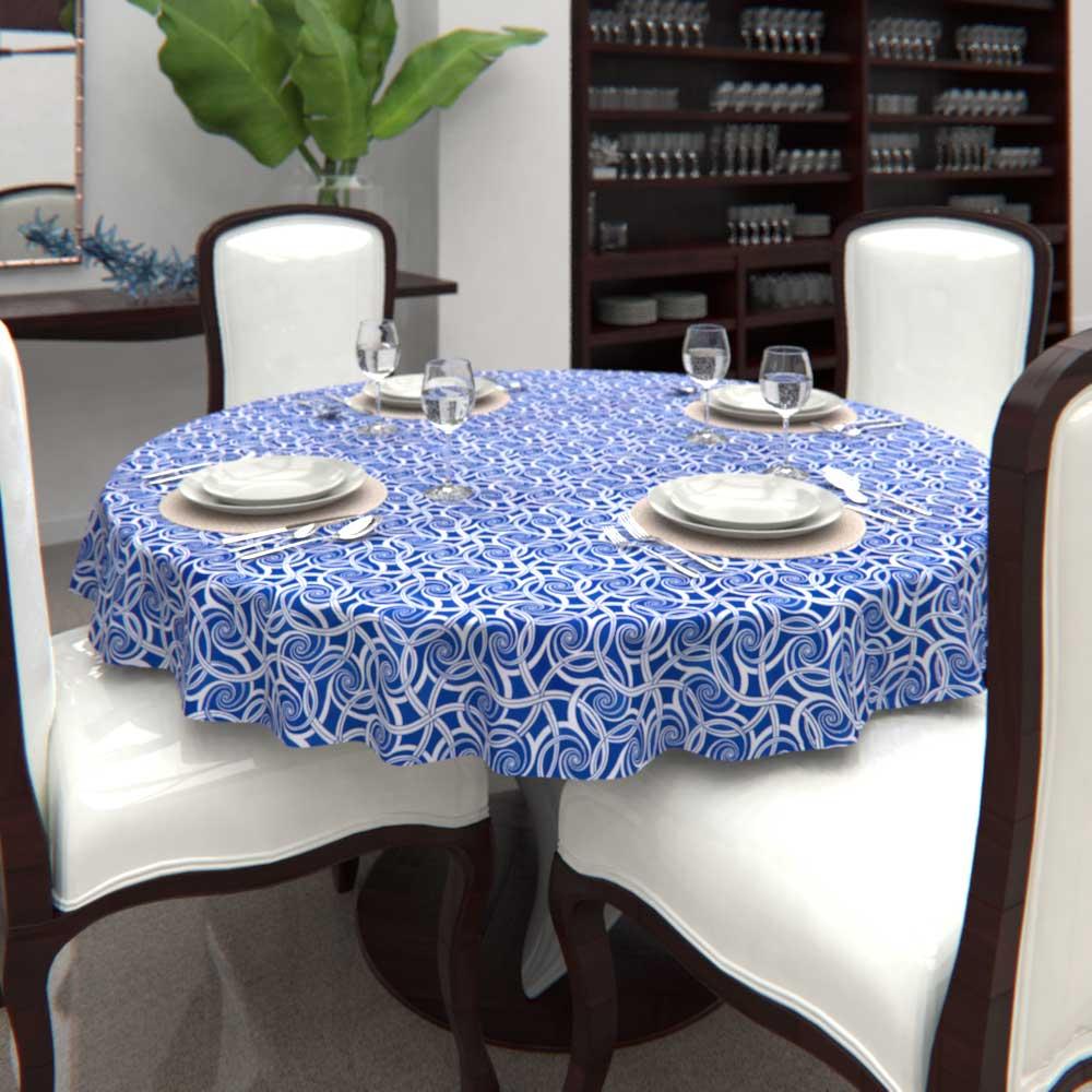 toalha de mesa estampada redonda com sobra de tecido ideal