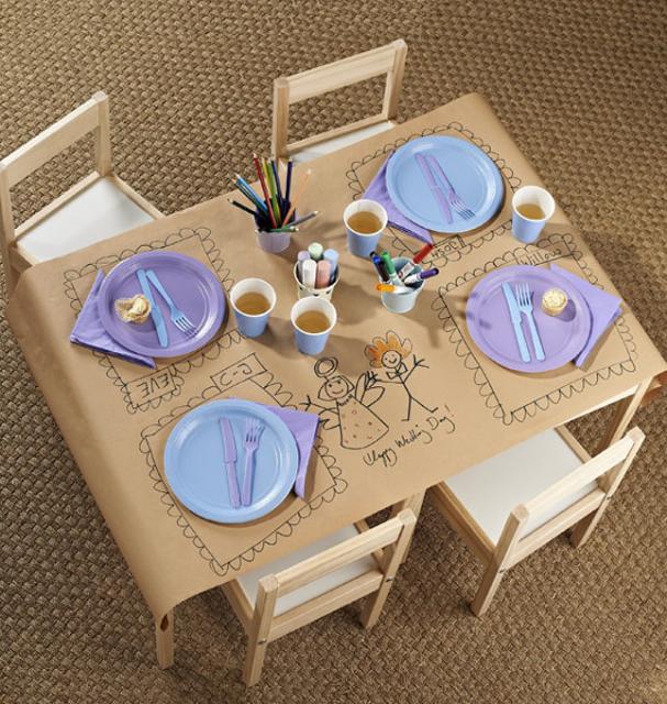 decoração de mesa de café da manhã dia das crianças