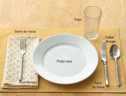 sugestão de mesa para o dia a dia