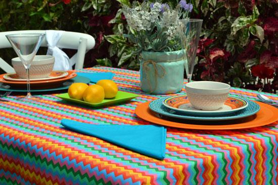 toalha de mesa colorida amor de verão