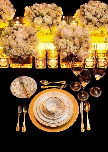 talheres para decorar com toalha de mesa preta para almoço