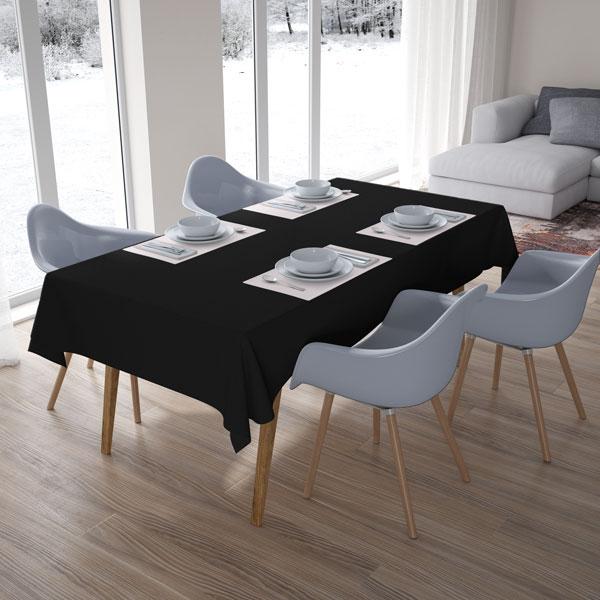 caída da toalha de mesa