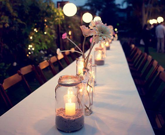 velas para decorar a mesa