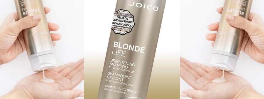 Shampoo Iluminador Joico Blonde Life Smart Release 300 ml para Cabelos Loiros