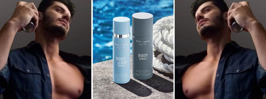 Light Blue pour homme body Spray Masculino 125ml Site Perfumer