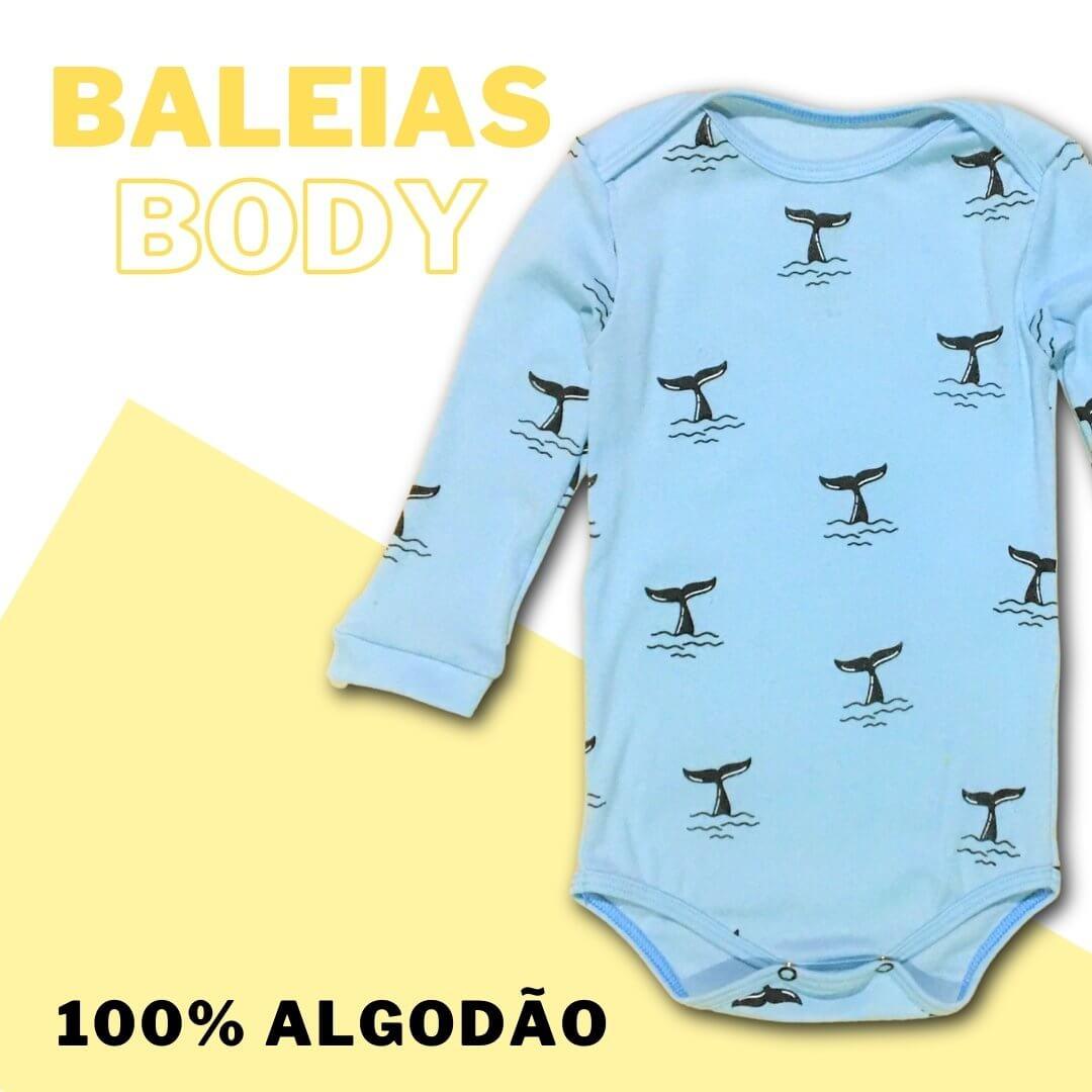 Body Manga Longa Baleias