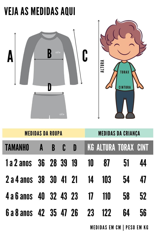 Camiseta infantil com proteção solar uv 50+ Safari