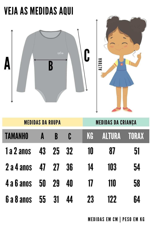Maiô Infantil Proteção Solar Uv 50+